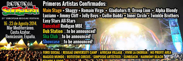 Rototom Sunsplash 2014